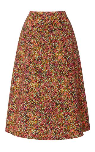 Medium philosophy di lorenzo serafini floral printed cotton drill a line skirt