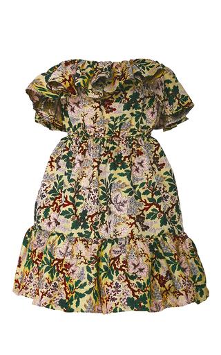 Medium philosophy di lorenzo serafini floral off the shoulder jacquard ruffle dress