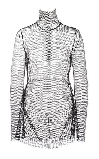 Medium ellery black olympic funnel neck top