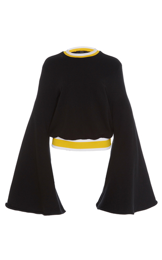 Medium ellery black immortal flare sleeve sweater