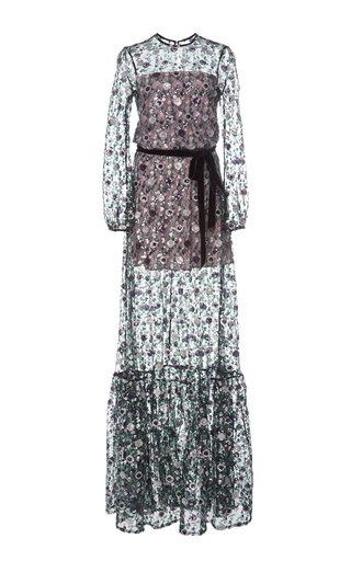 Medium alexis floral holly long sleeve embellished gown