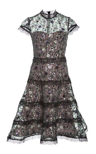 Medium alexis multi peonie embellished flare dress