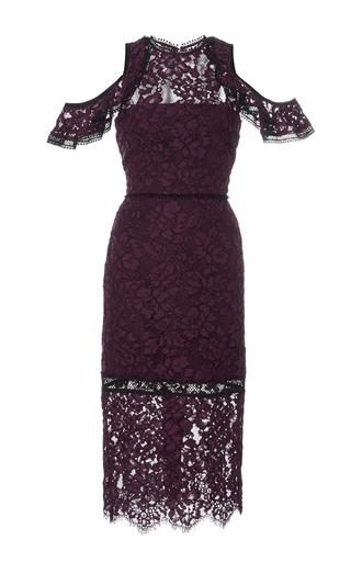 Medium alexis burgundy evie cold shoulder lace dress