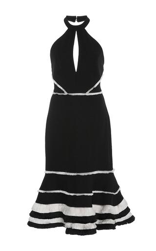 Medium alexis black doriann halter flare dress