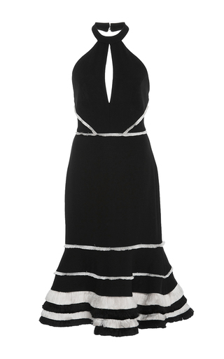 Medium alexis black doriann halter flare dress