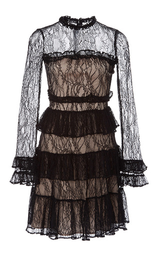 Medium alexis black sally tiered lace dress