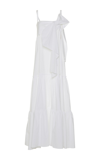 Medium rochas white bow maxi dress