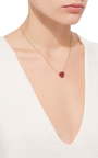 18 K Yellow Gold Raw Ruby Pendant Necklace by KARMA EL KHALIL Now Available on Moda Operandi