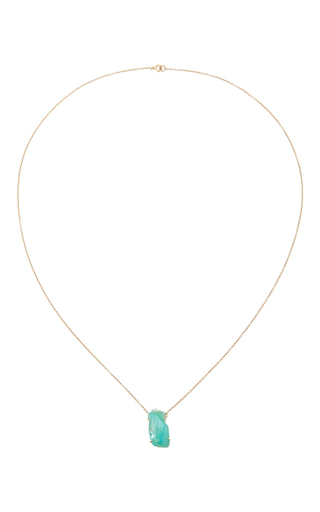 Medium karma el khalil gold 18k yellow gold paraiba opal pendant necklace