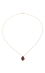 18 K Yellow Gold Ruby Pendant Necklace by KARMA EL KHALIL Now Available on Moda Operandi