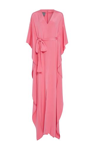 Medium monique lhuillier pink cascading sleeve caftan