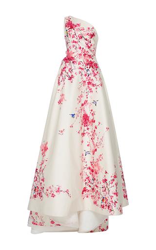 Medium monique lhuillier ivory one shoulder floral ball gown