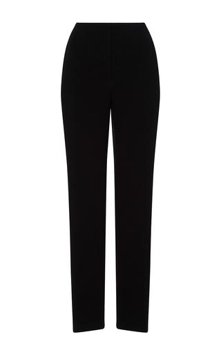 Medium monique lhuillier black high waisted straight leg trousers 2