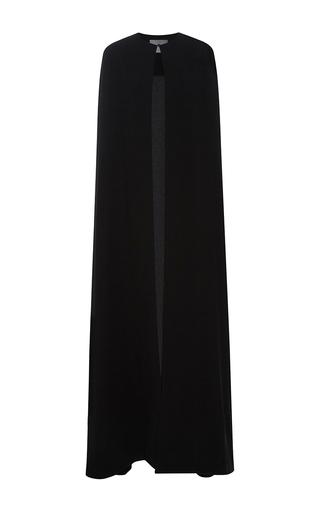 Medium monique lhuillier black floor length cape