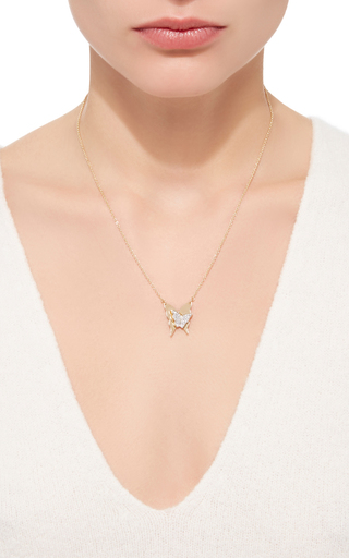 Little Miss Butterfly & Stars Necklace by EFVA ATTLING Now Available on Moda Operandi
