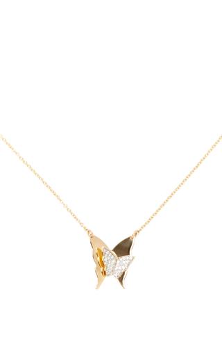 Medium efva attling gold little miss butterfly stars necklace