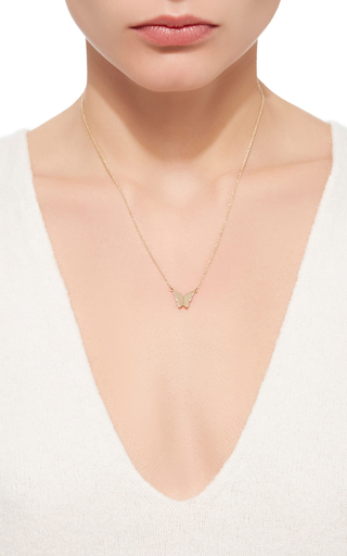 Little Miss Butterfly Necklace by EFVA ATTLING Now Available on Moda Operandi