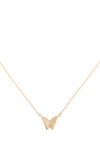 Medium efva attling gold little miss butterfly necklace