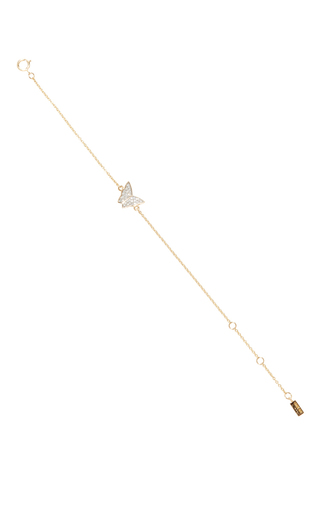Medium efva attling gold little miss butterfly stars bracelet