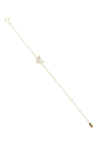 Medium efva attling gold little miss butterfly stars bracelet