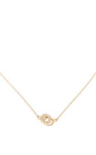 Medium efva attling gold mini twosome stars necklace