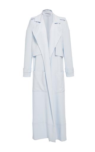 Medium sally lapointe light blue matte crepe duster coat