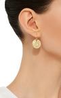 18 K Gold Medium Lily Pad Earrings by ANNETTE FERDINANDSEN Now Available on Moda Operandi