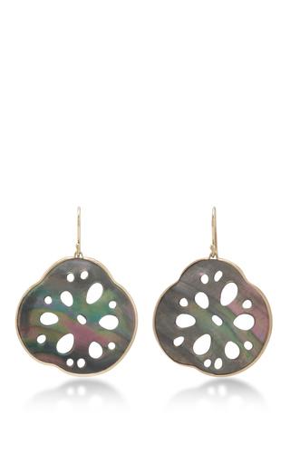 Medium annette ferdinandsen black 18k gold small lotcus root earrings 2