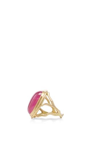 18 K Gold Tourmaline Branch Ring by ANNETTE FERDINANDSEN Now Available on Moda Operandi