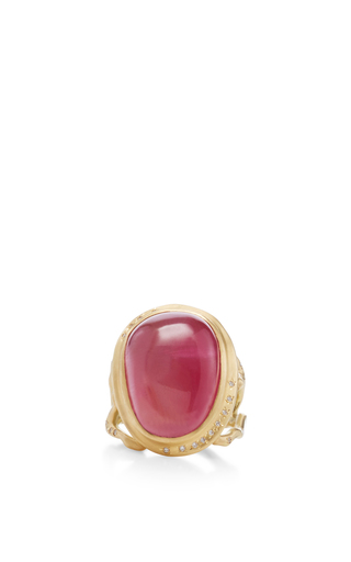 Medium annette ferdinandsen gold 18k gold tourmaline branch ring