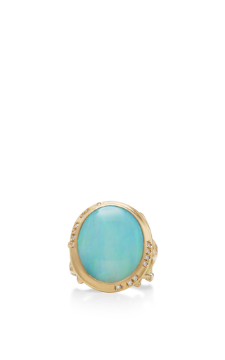 Medium annette ferdinandsen gold 18k gold opal branch ring