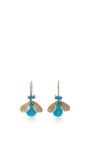 18 K Gold Turquoise Bug Earrings by ANNETTE FERDINANDSEN Now Available on Moda Operandi
