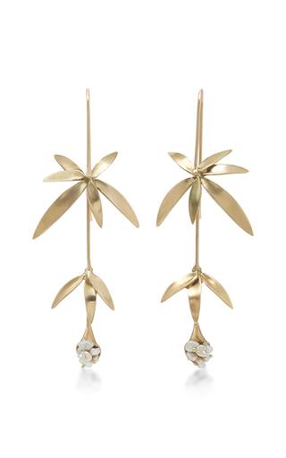 Medium annette ferdinandsen gold 18k gold wildflower earrings