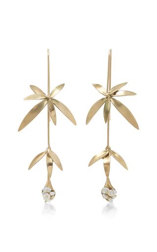 Medium annette ferdinandsen gold 18k gold wildflower earrings