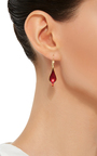 18 K Gold Crocus Petal Earrings by ANNETTE FERDINANDSEN Now Available on Moda Operandi