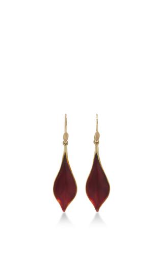 Medium annette ferdinandsen red 18k gold crocus petal earrings