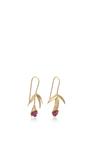 18 K Gold Small Wildflower Earrings by ANNETTE FERDINANDSEN Now Available on Moda Operandi