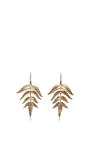 14 K Gold Small Fern Earrings by ANNETTE FERDINANDSEN Now Available on Moda Operandi