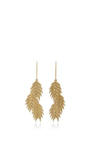14 K Gold Wild Oat Cluster Earrings by ANNETTE FERDINANDSEN Now Available on Moda Operandi