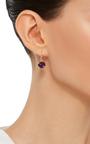 18 K Gold Amethyst Egg Earrings by ANNETTE FERDINANDSEN Now Available on Moda Operandi