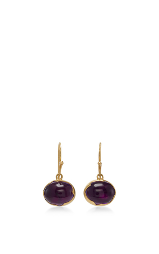 Medium annette ferdinandsen purple 18k gold amethyst egg earrings