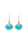 18 K Gold Turquoise Egg Earrings by ANNETTE FERDINANDSEN Now Available on Moda Operandi