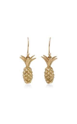 Medium annette ferdinandsen gold 18k gold small pineapple earrings