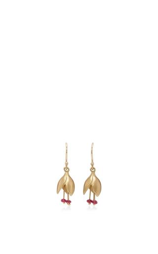 Medium annette ferdinandsen red 18k gold ruby bud earrings