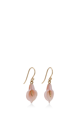 18 K Gold Calla Lily Earrings by ANNETTE FERDINANDSEN Now Available on Moda Operandi