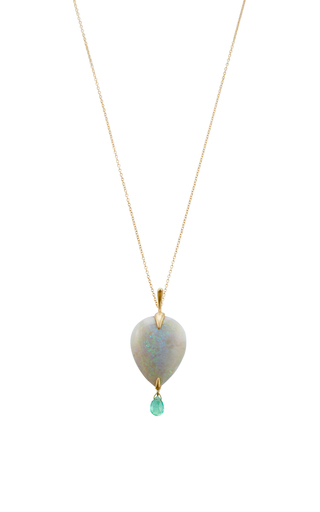 18 K Gold Simple Bird Pendant by ANNETTE FERDINANDSEN Now Available on Moda Operandi