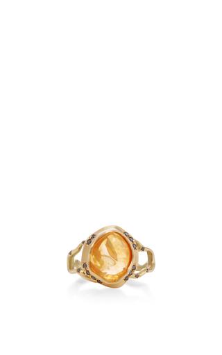18 K Gold Opal Branch Ring by ANNETTE FERDINANDSEN Now Available on Moda Operandi