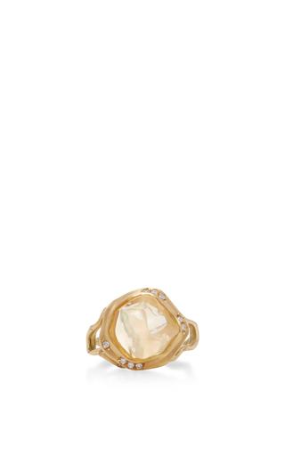 Medium annette ferdinandsen gold 18k gold opal branch ring 3