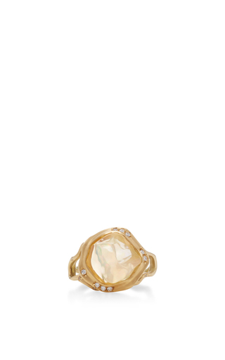 Medium annette ferdinandsen gold 18k gold opal branch ring 3