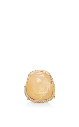 18 K Gold Large Opal Branch Ring by ANNETTE FERDINANDSEN Now Available on Moda Operandi